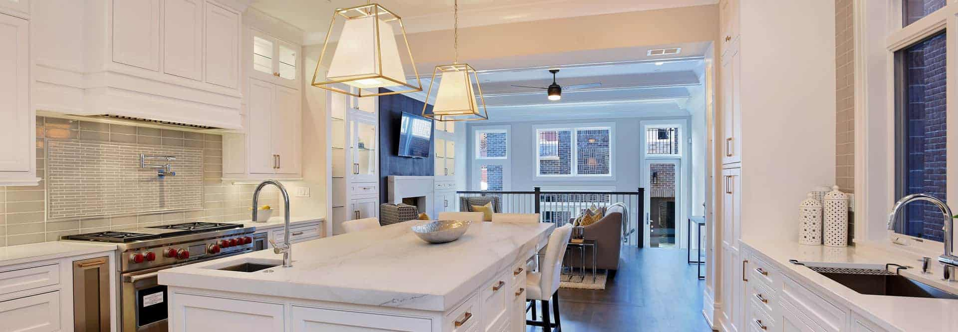 Kitchen with white colors