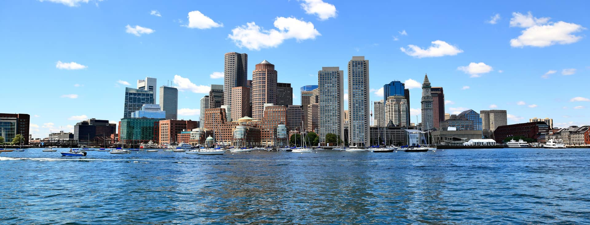 Boston waterfront view