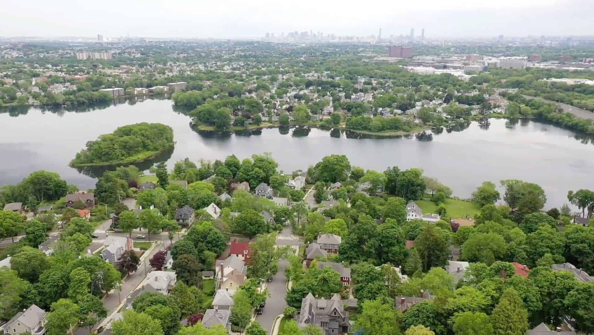 residential lake area