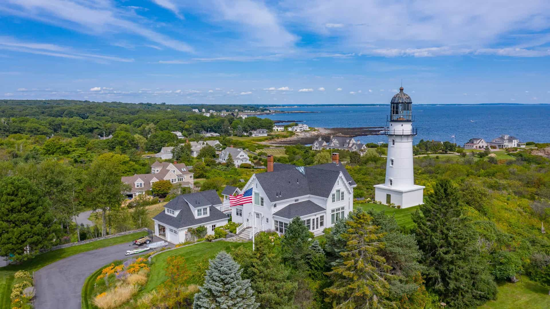 Famous lightghouse in Maine