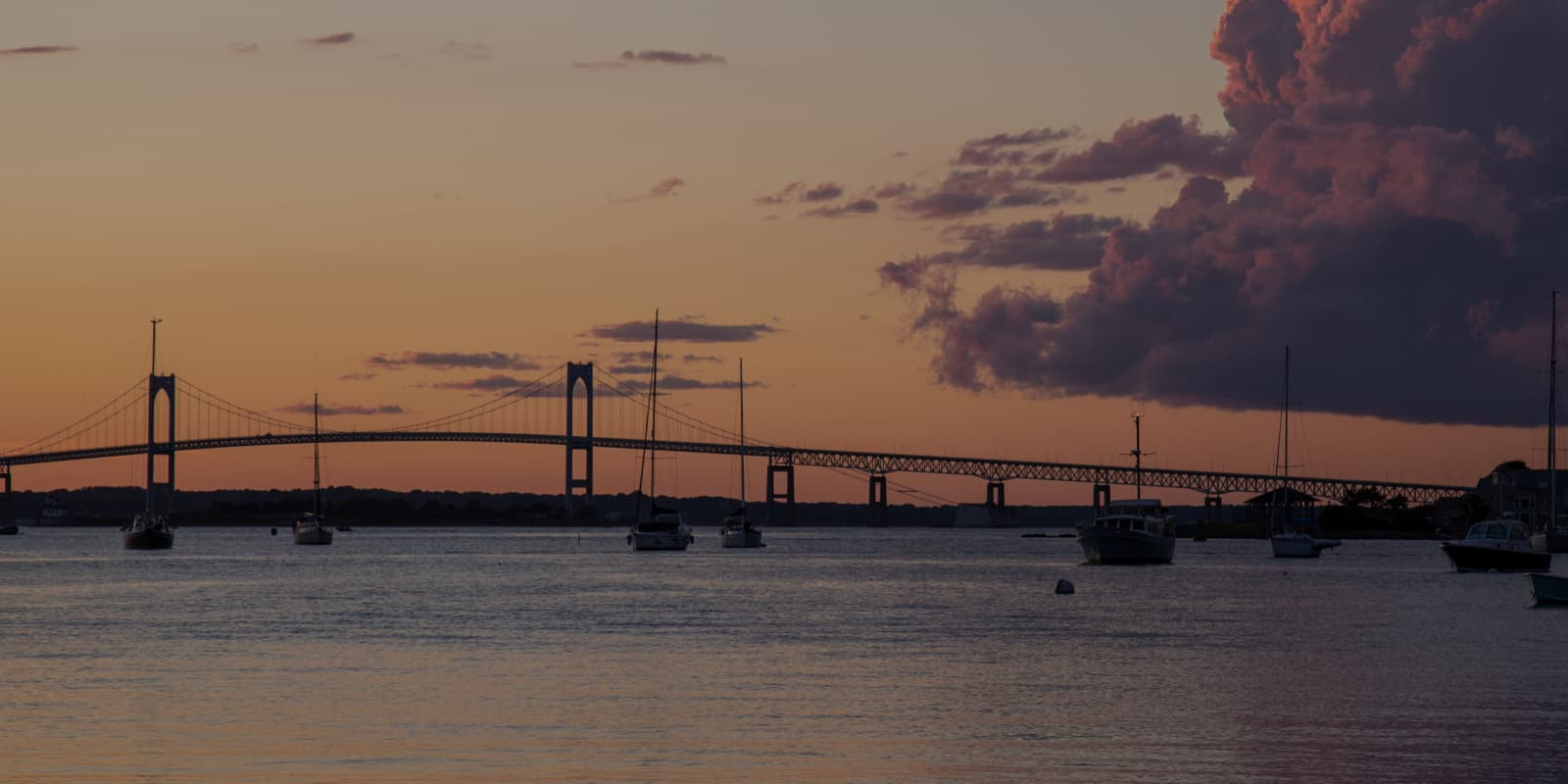 View of the bridge at twilight
